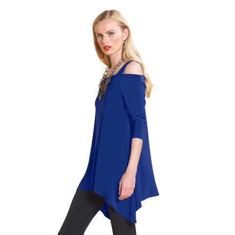 Clara Sunwoo Cold ShoulderTunic in Cobalt - T101