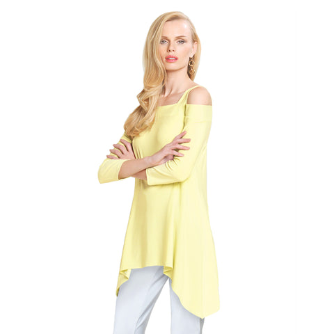 Clara Sunwoo Cold Shoulder Tunic in Yellow - T101-YLW