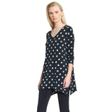 Clara Sunwoo - Mini Rose Print Side Vent Tunic - Black/White - T103P2-BW