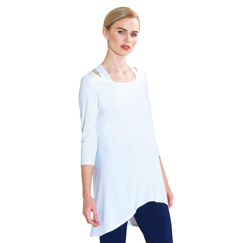 Clara Sunwoo Racer Back Tunic in White - T120-WHT