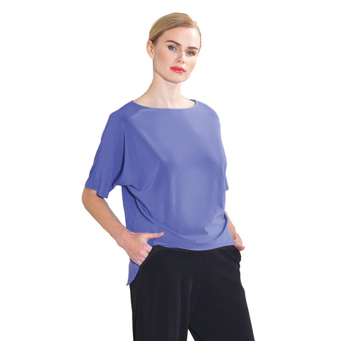 Clara Sunwoo Loose Fit Half Sleeve Top in Periwinkle - T121-PERI - Size XL Only