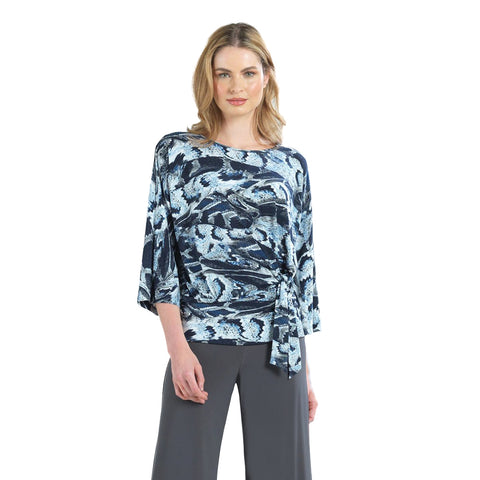 Clara Sunwoo Striking Python Print Top with Side Tie - T207P2