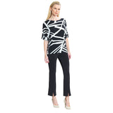 Clara Sunwoo Geometric Print Top in Black & White - T20P-BW - Sizes XS & L Only