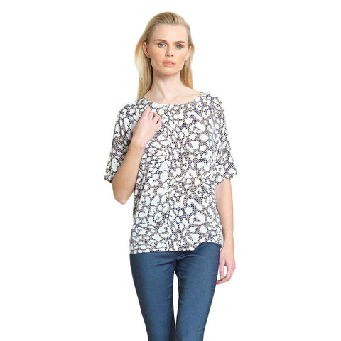 Clara Sunwoo Animal Print Lightweight Knit Top - T20P3-BGE - Sizes XS & M
