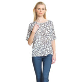Clara Sunwoo Dot Print Loose Fit Top with Cut-Out Back - Beige/Ivory - T20P3-BGE