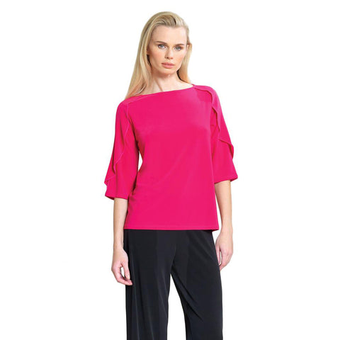 Clara Sunwoo Ruffle Sleeve Soft Knit Top in Pink- T219C-PNK - Sizes XS, S, M & L Only