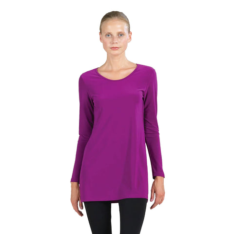 Clara Sunwoo Scoop Neck Tunic in Violet - T23L1-VIO - Size M Only