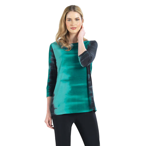 Clara Sunwoo Ombre Print Tunic in Green - T25P5 - Size XL Only