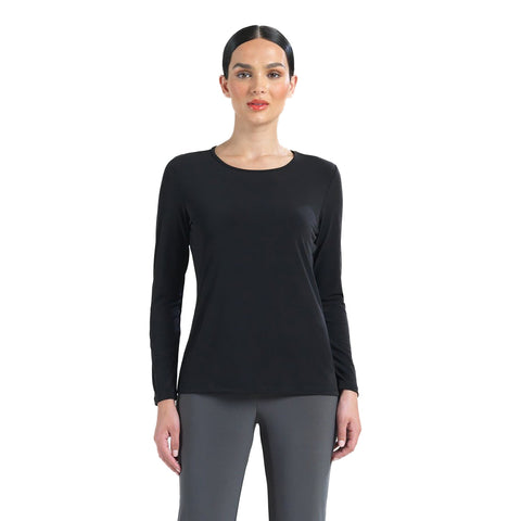 Clara Sunwoo Basic Scoop Neck Top in Black - T28-BLK