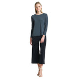 Clara Sunwoo Basic Sleeve Top in Charcoal - T28-CHAR - Sizes XS, S & XL Only
