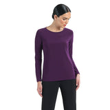 Clara Sunwoo Basic Scoop Neck Top in Eggplant - T28-EGG - Sizes XS & XL