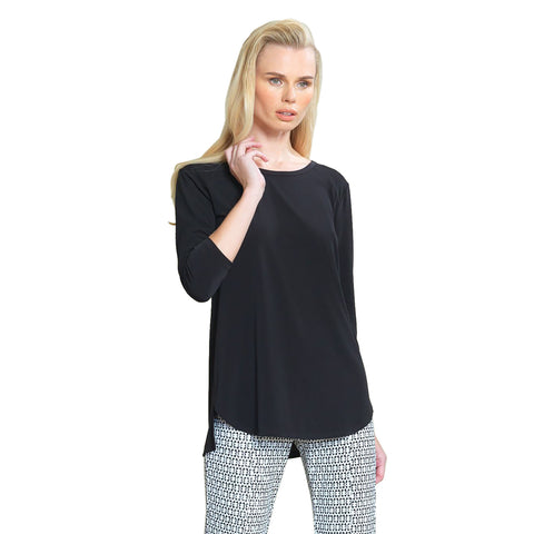 Clara Sunwoo High-Low Tunic in Black - T30-BLK