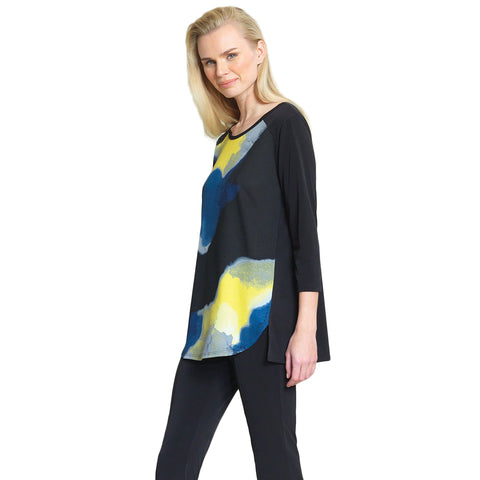 Clara Sunwoo Watercolor Crepe Knit Tunic in Multi - T30P8-MLT - Size XS Only