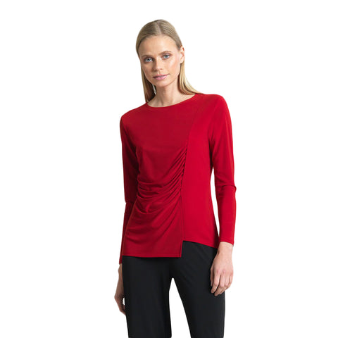 Clara Sunwoo Side Ruched Top in Red - T40-RD