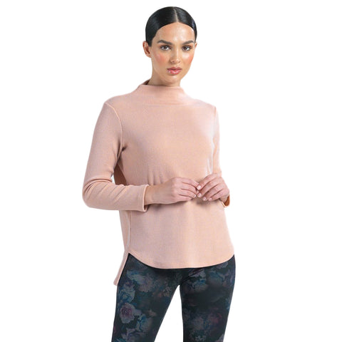 Clara Sunwoo High-Low Soft Knit Sweater Top in Peach - T42W-PEACH - Sizes S - XL