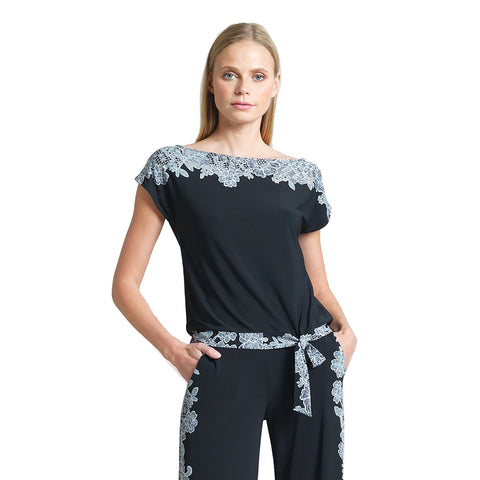 Just In! Clara Sunwoo Lace Trim Cap Sleeve Top - T45PB
