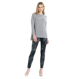 Clara Sunwoo High-Low Sweater Knit Tunic Top in Sand - T54W-SND