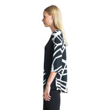 Clara Sunwoo Abstract Stripe Print Tunic - T76E - Size XS