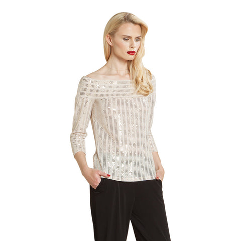 Clara Sunwoo Shimmer Top in Champagne - T78S-CPG