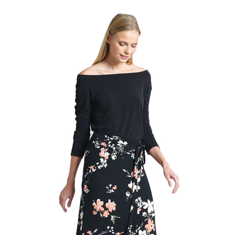 Clara Sunwoo Off-Shoulder Top in Black - T80-BLK