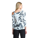 Clara Sunwoo Open-Shoulder Rose Print Top - T9P - Size S Only