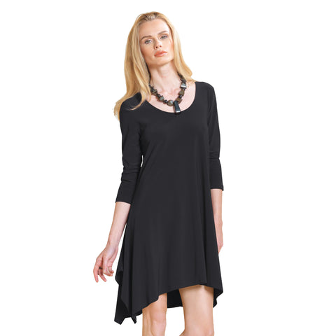 Clara Sunwoo Trapezoid Tunic Dress in Black - TD301-BLK - Size S Only