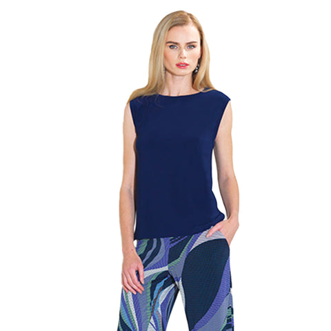 Clara Sunwoo High-Low Tank Top in Navy - TK17-NVY - Size XL Only