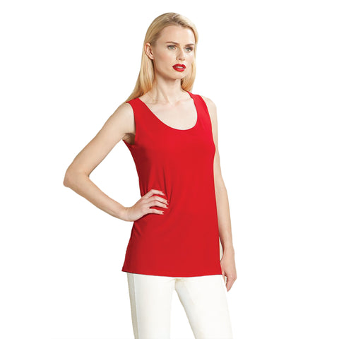 "Clara Sunwoo Mid-Length ""Extender"" Tank in Red - TK73-RED"