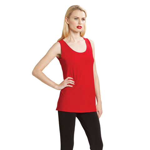 "Clara Sun Woo Mid-Length ""Extender"" Tank in Red - TK73-RED"