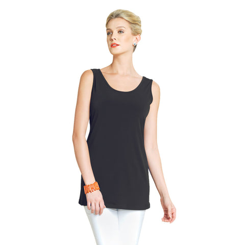 "Clara Sunwoo Long ""Extender"" Tank Top in Black - TKL-BLK"
