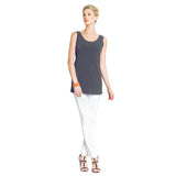 Clara Sunwoo Long Tank Top in Charcoal - TKL-CHAR