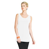 "Clara Sunwoo Long ""Extender"" Tank Top in White - TKL-WHT"