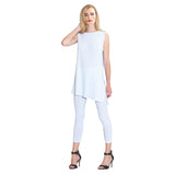 Clara Sunwoo High Round Neck Sleeveless Tunic in White - TKU2-WHT