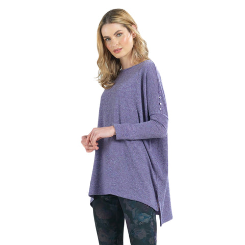 Clara Sunwoo Solid Boyfriend Sweater-Knit Tunic in Lilac - TU114W2