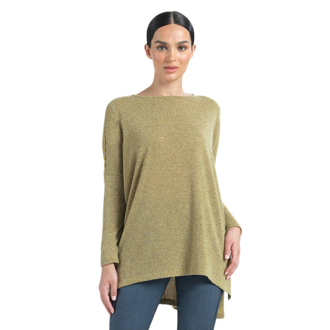 Copy of Clara Sunwoo Solid Boyfriend Sweater-Knit Tunic in Moss - TU114W2-MO
