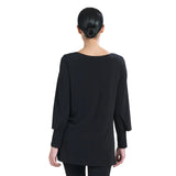 Clara Sunwoo High-Low Peekaboo Cuff Tunic in Black  - TU27-BLK - Size XS Only
