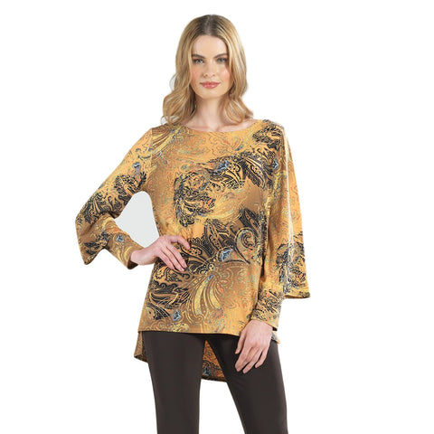 Clara Sunwoo Paisley High-Low Tunic in Brown/Multi - TU27P-BRN - Size 1X Only