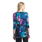 Clara Sunwoo Neon Splash Print Side Tie Wrap Tunic - TU2P1 - Size S Only