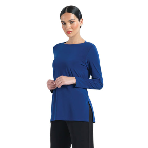 Clara Sunwoo Solid Tunic with Cutout Keyhole Back in Cobalt - TU41-COB - Size XS Only