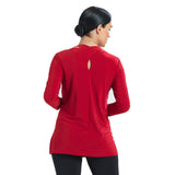Clara Sunwoo Solid Tunic with Keyhole Back in Red - TU41-RED - Size XS Only