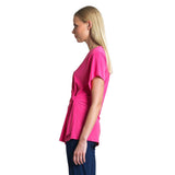 Clara Sunwoo V-Neck Side Tunic in Pink - TU59-PNK