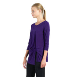 Clara Sunwoo  Soft Knit Twist-Front Tunic in Purple - TU60-PUR