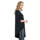 Just In! Clara Sunwoo Faux Pull Tie Standout Tunic in Black - TU74-BK