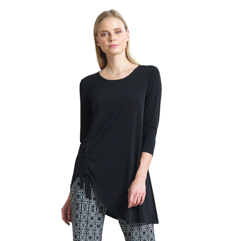 Clara Sunwoo Faux Pull Tie Standout Tunic in Black - TU74-BK - Size M Only