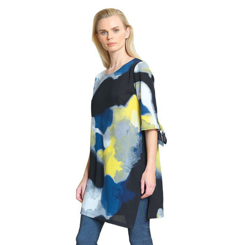 Clara Sunwoo Watercolor Print Side Slit Tunic - TU76P-MLT