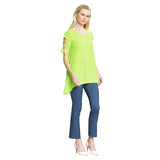 Clara Sunwoo Flirty Tie Sleeve Tunic in Lime - TU77-LM - Size XS Only