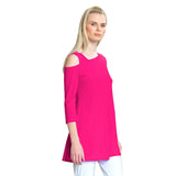 Clara Sunwoo Drop Shoulder Bell Sleeve Tunic - Pink - TU826C-PK - Size XS Only
