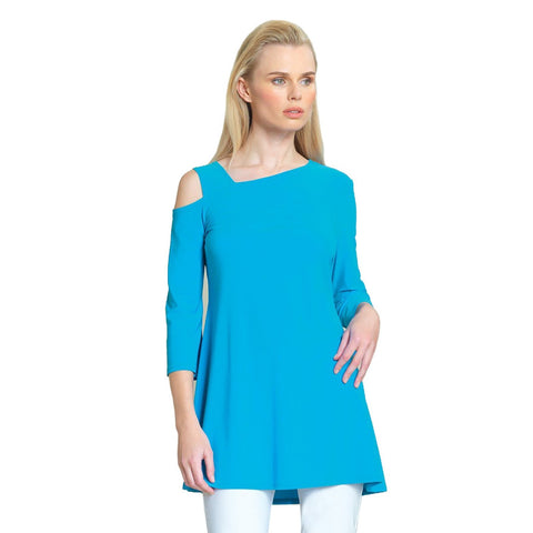 Clara Sunwoo Drop Shoulder Bell Sleeve Tunic - Turquoise  TU826C-TQ - Size XS Only