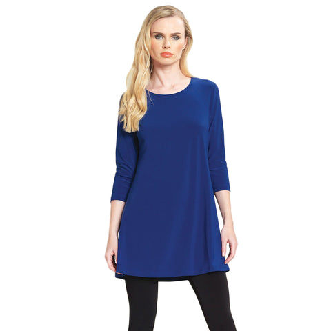 Clara Sunwoo Solid Square Cut Out Back Tunic in Cobalt - TU827-COB