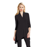 Clara Sunwoo Narrow V Tunic in Black - TU85-BLK - Sizes XS Only